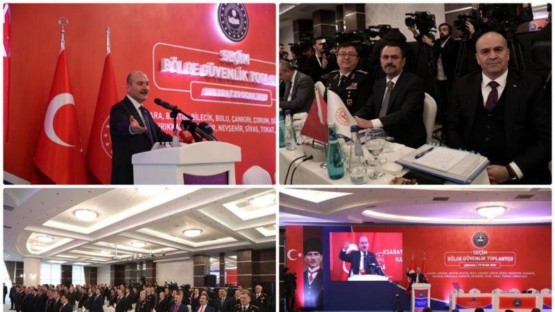 Nevşehir Valisi, Seçim Güvenliği Toplantısına Katıldı