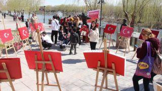 Şanlı Bayrağım Sergisi Anaokulu Öğrencilerince Açıldı