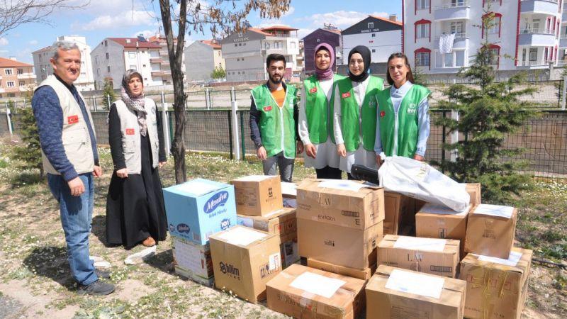 Öğrencilerden Doğu Türkistanlılar için yardım kampanyası