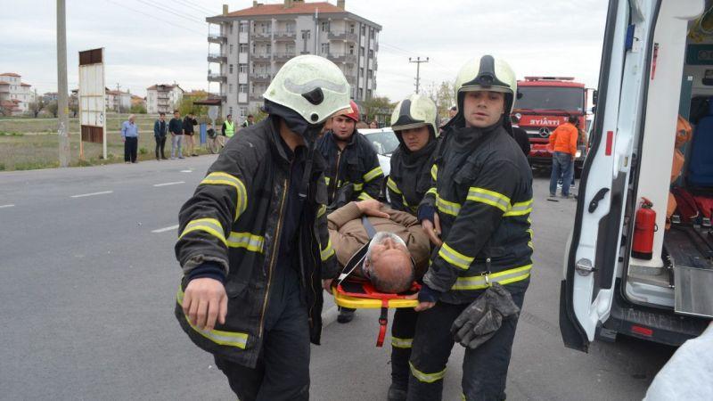 Aksaray'da Tır ile otomobil çarpıştı: 3 yaralı