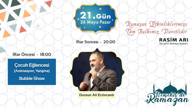 Nevşehir'de Ramazan'da Dursun Ali Erzincanlı Gecesi