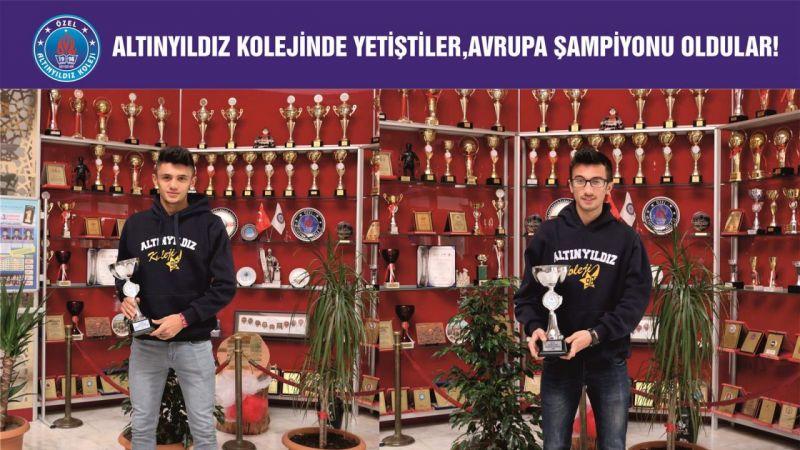 Altınyıldız Kolejinin Avrupa Şampiyonu Gururu Onlar !