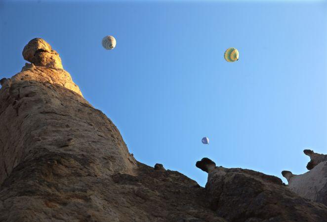 Kapadokya'da bayram tatili yoğunluğu