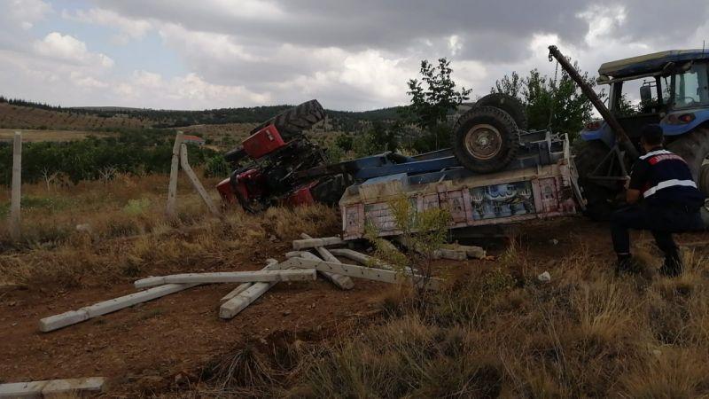 Nevşehir'de devrilen traktörün altında kalan sürücü öldü