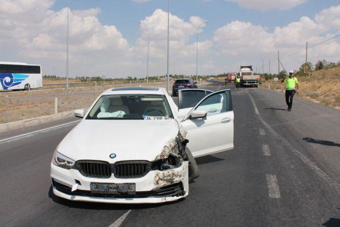 Aksaray'da trafik kazası: 2 turist yaralandı