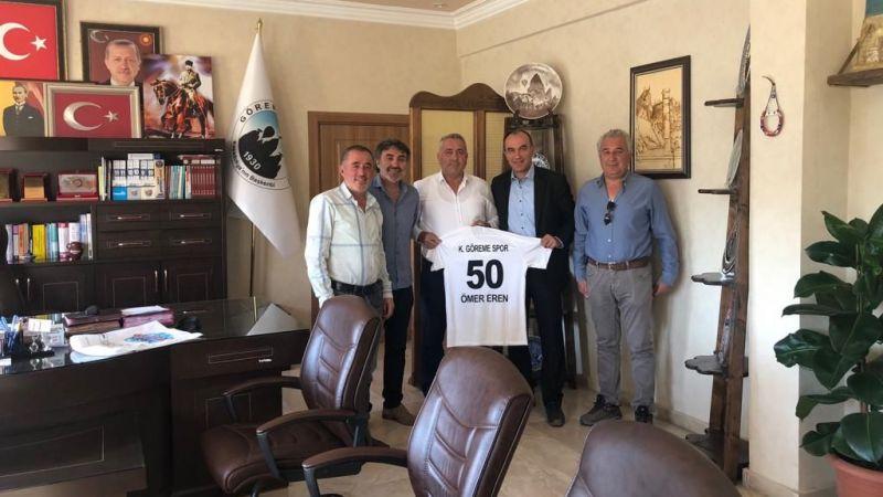 Başkan Eren'e, Kapadokya Göreme Spor'dan Ziyaret