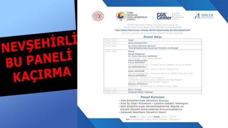 TOBB Ve AHİKA Nevşehir'de Ortak Panel Düzenleyecek