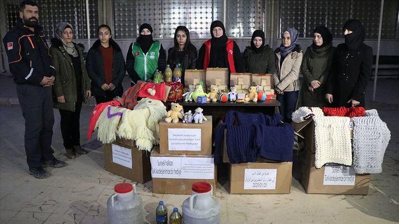Afrinli Kadınlar Elazığ'daki Deprem Bölgesine Yardım Gönderdi