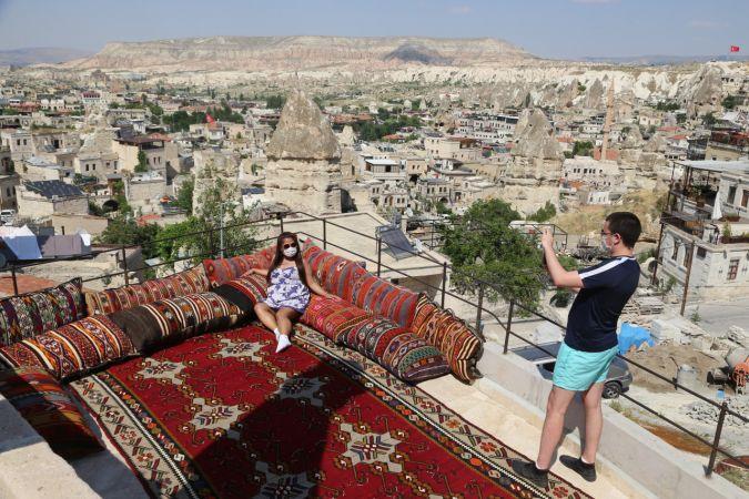 """Kapadokya'daki turizm tesislerinden turistlere """"sağlık öncelikli"""" tatil imkanı"""
