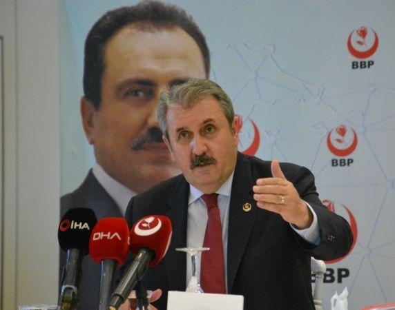 BBP Genel Başkanı Destici, il başkanları toplantısında konuştu