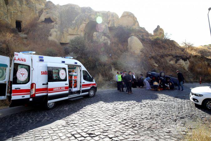 Nevşehir'de otomobil devrildi: 3 yaralı