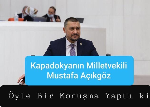 Milletvekili Açıkgöz'den, TBMM'de Nevşehir Sözleri