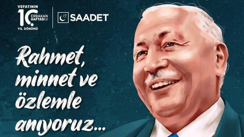 Başkan Simit Necmettin Erbakan'ı Andı