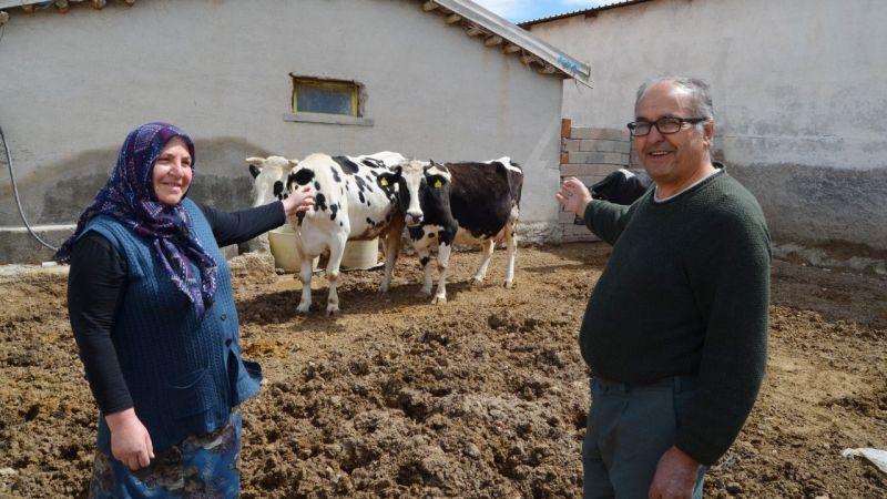 'Mikro Kredi' ile Aldığı Düve ile Hayvancılığı Başladı, 11 Yılda Çiftlik Kurdu