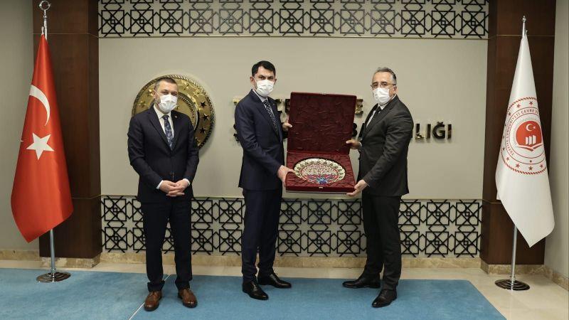 Başkan Savran'dan Çevre ve Şehircilik Bakanı Murat Kurum'a Ziyaret