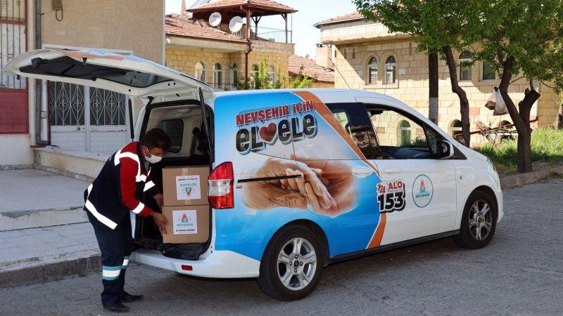 Nevşehir Belediyesi'nden İhtiyaç Sahibi Ailelere 5 Bin Gıda Paketi