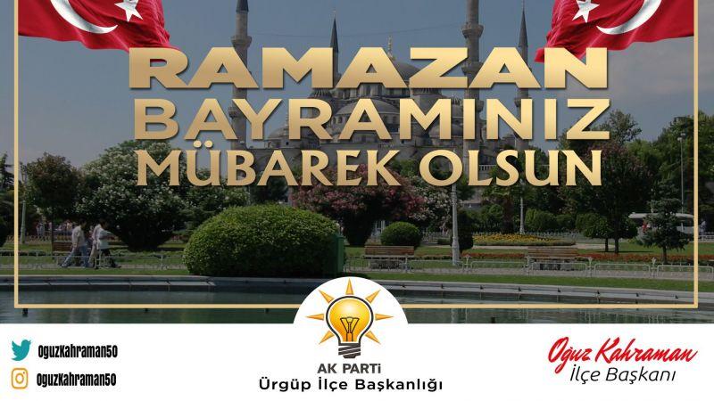 AK Parti Ürgüp İlçe Başkanı'ndan Bayram Tebriği