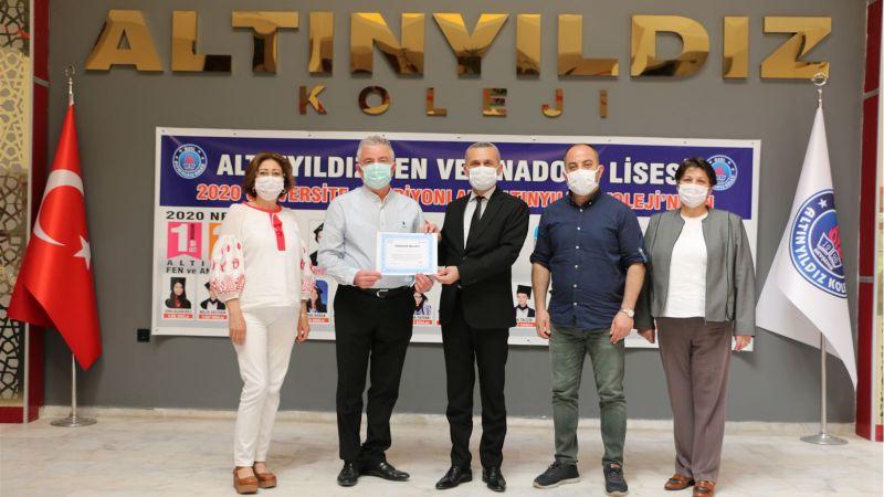 Nevşehir SGK'dan Altınyıldız Eğitim Kurumlarına Teşekkür Belgesi