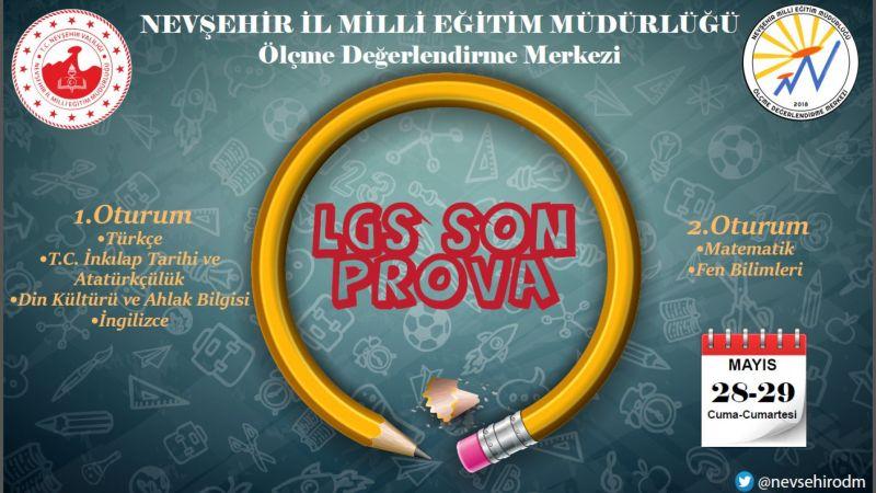 LGS Öğrencilerine Yönelik Son Prova