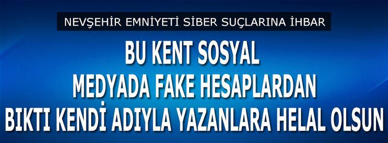 Artık Nevşehir'de Sosyal Medyada Fake Hesaplar Bıktırdı