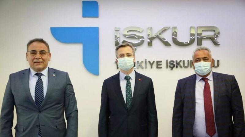 Vekil Menekşe ve Başkan Eren'den İŞKUR'a Ziyaret