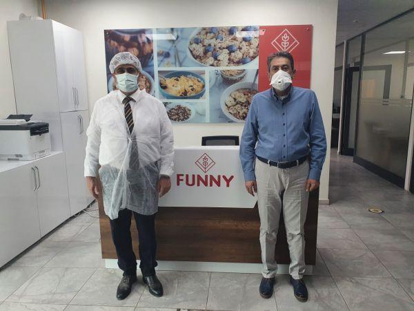 NEVÜ Rektörü Aktekin'den Funny Gıda ve Funny Cam A.Ş.'ye Ziyaret