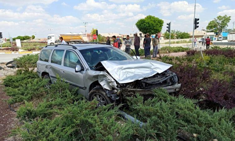 Aksaray'da Trafik Kazası 3 yaralı