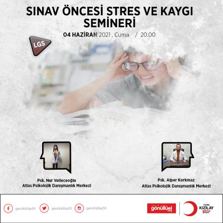 Öğrencilere Nevşehir Kızılay'dan Ücretsiz LGS Öncesi Sınav Stresi ve Kaygı Yönetimi Semineri !