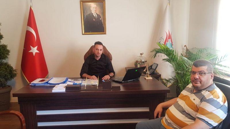 Gazeteci Can Taşkın'dan Belediye Başkan Yardımcısı Ersin Erol'a Geçmiş Olsun Ziyareti