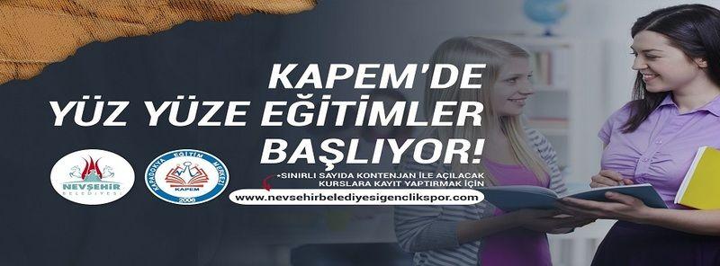 KAPEM'de Yüz Yüze Eğitimler Başlıyor