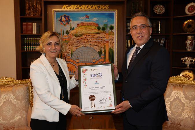 Başkan Savran'a TÜROB Başkanı Eresin'den Ziyaret