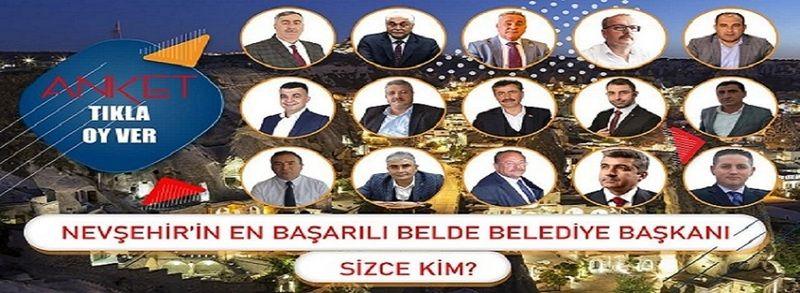 İşte Nevşehir'in Beldeleri Arasında En Başarılı Belediye Başkanı Anket Sonucu