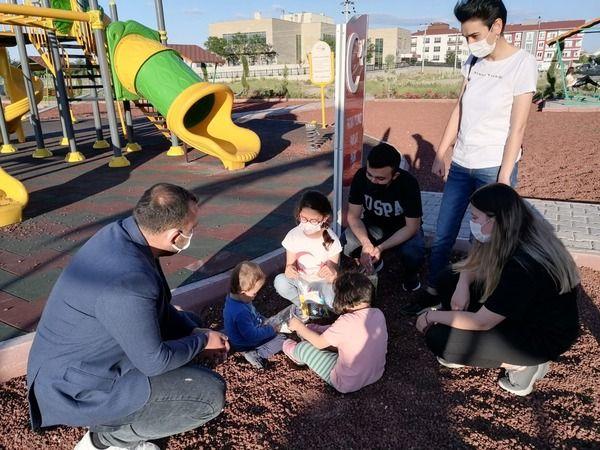 AK Parti Gülşehir Gençlik Kolları Parkta Çocukları Eğlendirdi
