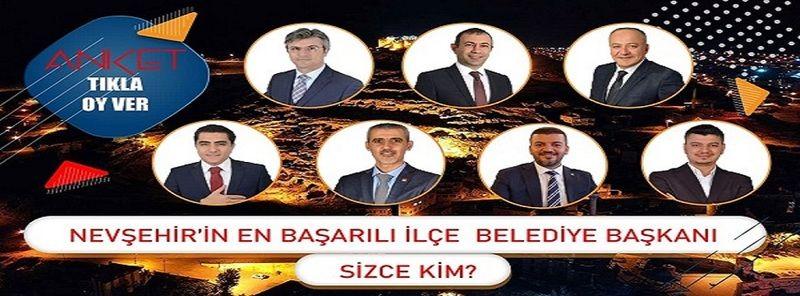 Nevşehir'in İlçeleri Arasında En Başarılı Belediye Başkanı Anketi Sonuçlandı