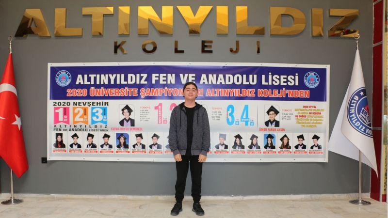 Altınyıldız Fen Lisesinden Tübitak Türkiye 3.lüğü