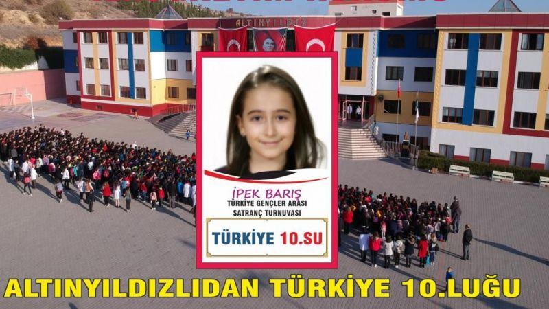 Altınyıldızlıdan Satranç Turnuvasında Türkiye 10.Luğu
