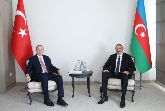 Cumhurbaşkanı Erdoğan, Aliyev İle Bir Araya Geldi