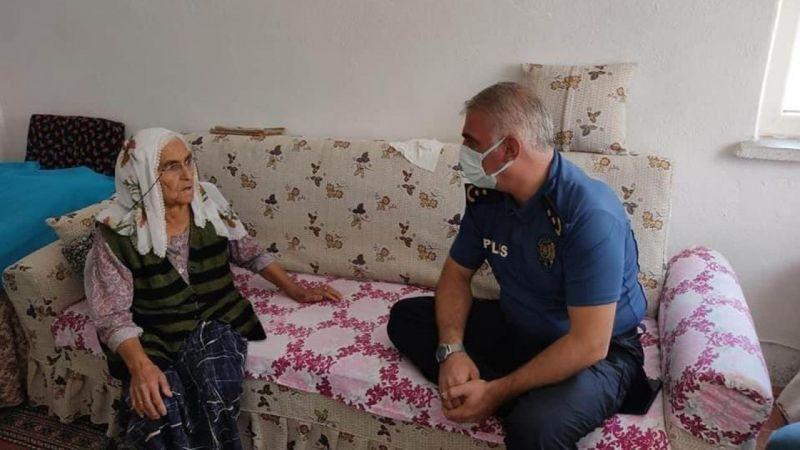 Yaşlı Kadının İmdadına Polis Ekipleri Yetişti