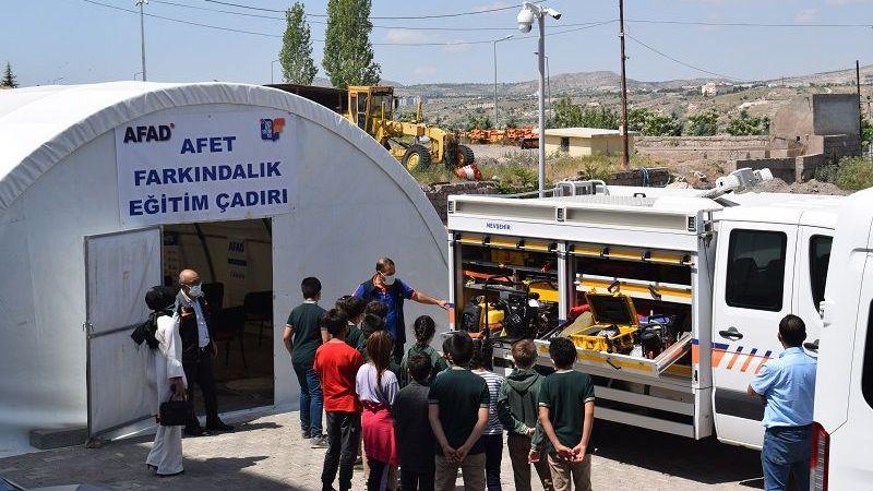 Afet Eğitim Çadırında Eğitim Faaliyetleri Başladı