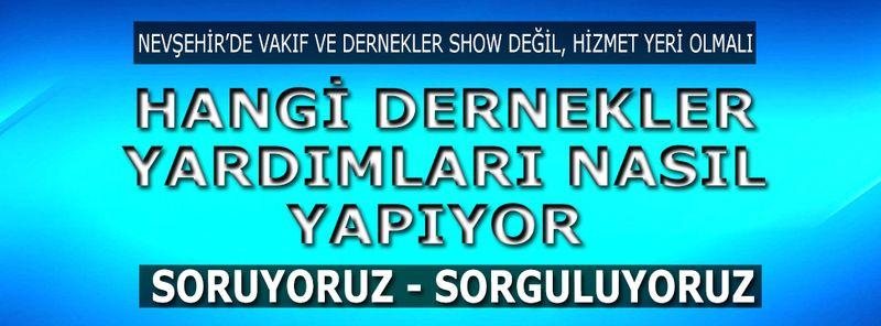 Nevşehir'de Vakıf ve STK'lar Sizce Ne İş Yapıyor?