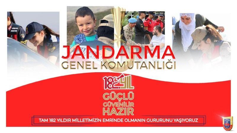 Kaymakam Toy Jandarma Teşkilatının 182. Yaşını Kutladı