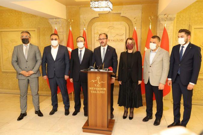 Gençlik ve Spor Bakanı M. Muharrem Kasapoğlu Nevşehir'de