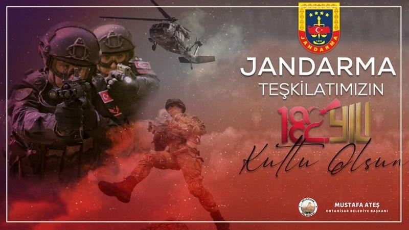 Başkan Ateş Jandarma Teşkilatı'nın Yıldönümünü Kutladı