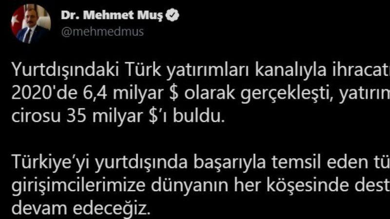 Yurt Dışındaki Türk Yatırımların Cirosu Gittikçe Artıyor