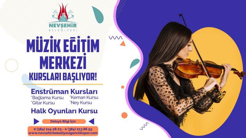 Nevşehir Belediyesi Müzik Eğitim Merkezi'nde Yaz Dönemi Kursları Başlıyor