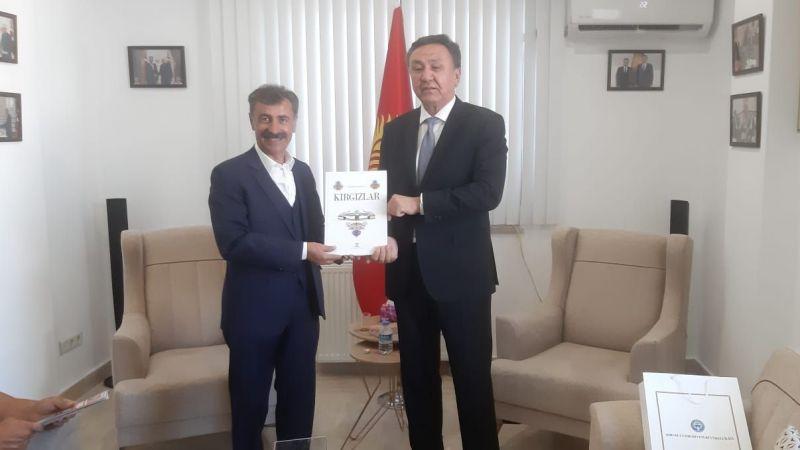 Başkan Osman Süslü'den Kırgız Büyükelçi Ömüraliyev' e İade-i Ziyaret