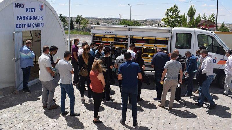 Nevşehir AFAD Afet Farkındalık Eğitimi Tamamlandı