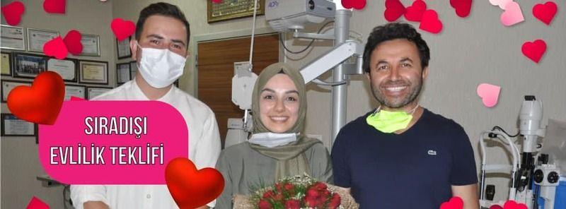 Nevşehir'de Nişanlısına Meslektaşından Sıradışı Evlilik Teklifi