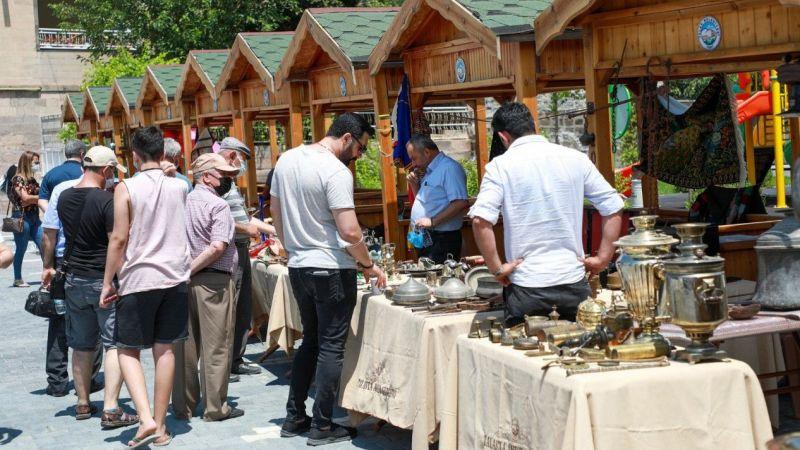 Talas Antika Pazarı Yeniden Açıldı