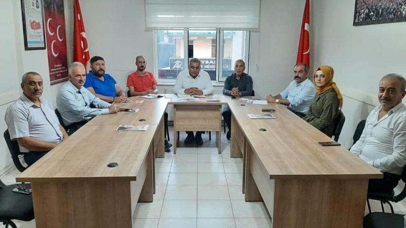 MHP'de İlçe Başkanları Toplantısı Yapıldı
